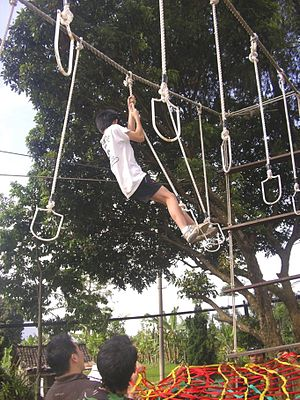 Bahasa Indonesia: Hanging Stepping Stones adal...