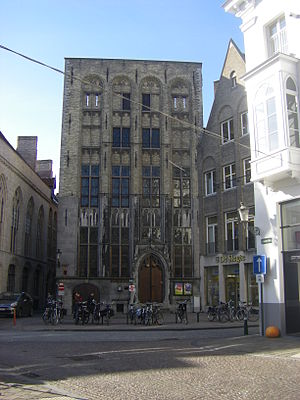 English: Mansion of family Van der Beurze in B...