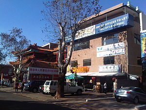 English: A street picture of the China town in...