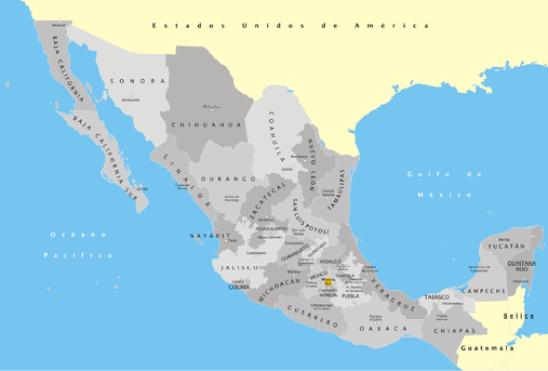 México División Política con nombres