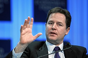 English: Nick Clegg, Deputy Prime Minister of ...