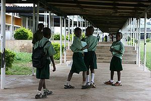 English: Children at school in Nigeria