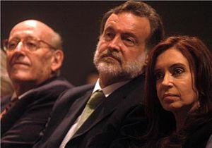 Rafael Bielsa y Cristina Fernández de Kirchner
