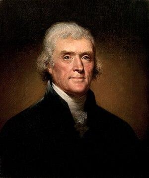 Portrait of Thomas Jefferson by Rembrandt Peal...