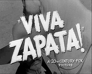 A frame from the trailer for Viva Zapata!.