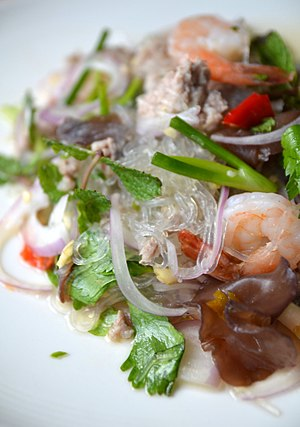 Yam wun sen (Thai script: ยำวุ้นเส้น) is a spi...