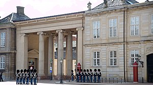 Amalienborg med C.F. Harsdorffs kolonnade