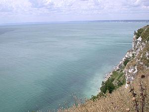 Black Sea, view near Balgarevo, Northeast Bulgaria