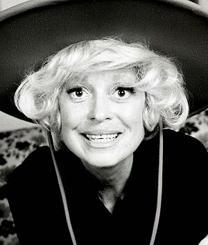 English: Carol Channing taken in black & white.