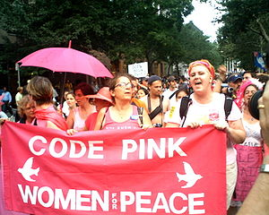 Marching in 2004.