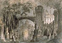 Toneelbeeld Lucia di Lammermoor van Bagnara ui...