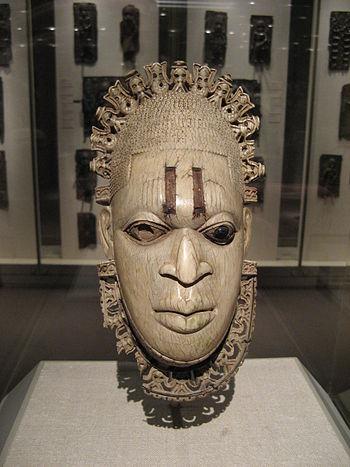 Pendant Mask: Iyoba, 16th century Nigeria; Edo...