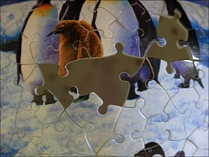 Puzzle globe (partial view)