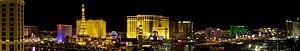 Night Panorama of the Las Vegas Strip, featuri...