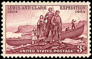 U.S. Postage: Lewis and Clark Expedition, 1954...