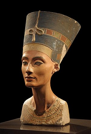 The Nefertiti bust, originally discovered in A...