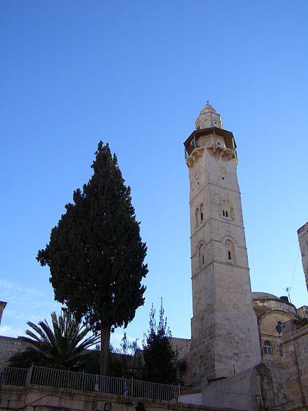Le minaret de la mosquée d'Omar