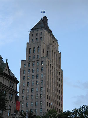 The Price Building, in the old city of Quebec ...