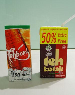 Teh Botol and its competitor, Teh Kotak