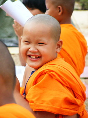 Thai Buddish Monk in Ban Pha Cuk, Pha Chuk sub...