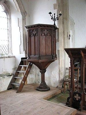 The church of St Andrew in Illington - hourgla...