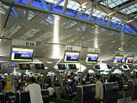 Check-in desks in Suvarnabhumi Airport