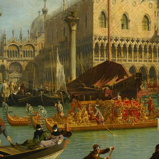 Canaletto - Bucentaur's return to the pier by the Palazzo Ducale