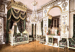 Château of Fontainebleau, bedroom of Napoleon I