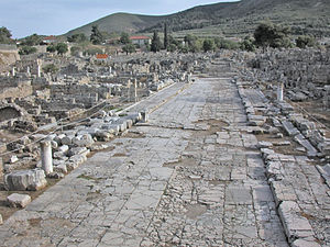 Ancient Corinth, urban street