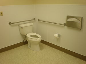 A handicapped toilet in South San Francisco, C...
