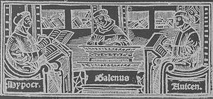 imagen de galeno hipocrates y avicena