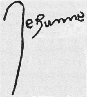 Unterschrift Jeanne d'Arcs