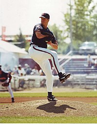 Jim Abbot graduated from Flint Central High School in Michigan where he was a stand-out pitcher and quarterback before playing College and Major League Baseball