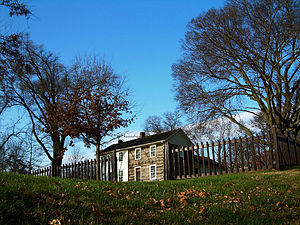 English: The Joseph Smith house in Nauvoo, Ill...