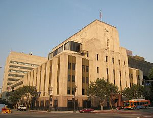 Los Angeles Times building in downtown Los Ang...