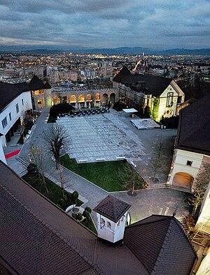 Ljubljana Castle from air