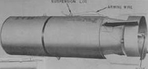 English: The M34 series sarin cluster bomb was...