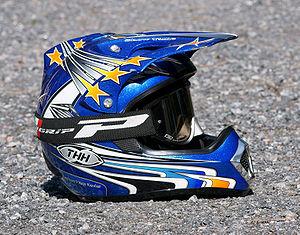 A motocross helmet.