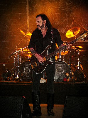 "Lemmy, live during ""Kiss of Death tour, i..."