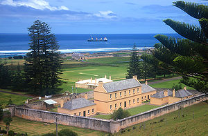 Norfolk Island jail.