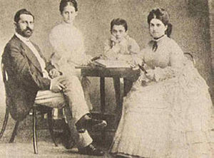 English: Theodor Herzl\'s childhood with his f...