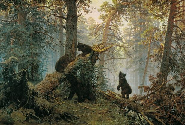 """Morning in a Pine Forest"" by Ivan Shishkin and Konstantin Savitsky"