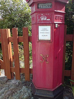 Victorian Pillar Box, Iona Last collection, Mo...