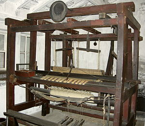 Victorian hand-loom, in Timmy Feather's Worksh...