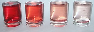 Dilution-grenadine