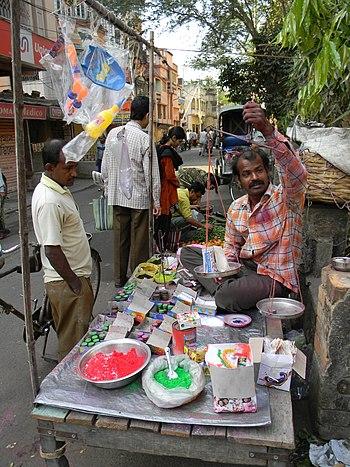Holi Colors street shop at Deanesh Skeikh lane...