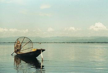 Intha fisherman on Inle Lake, Myanmar