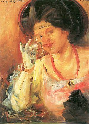 Lovis Corinth Dame mit Weinglas 1908