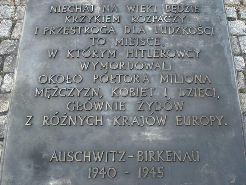 Plik:Memorial in Auschwitz.JPG