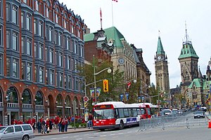 Elgin Street in downtown Ottawa, looking north...